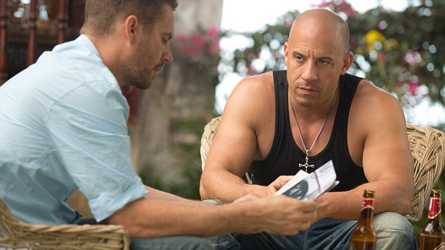 Toughing it out: Paul Walker and Vin Diesel