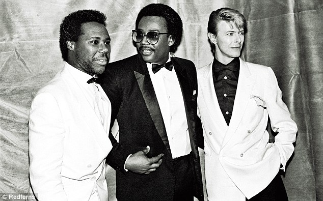 'David is very bold. When we were doing the record he didn't have a record deal. He financed Let¿s Dance himself, so we didn't have to answer to anyone except each other,' said Nile Rodgers (left)
