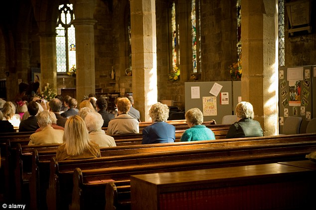 Dwindling: The number of Christians in Britain has fallen by 4.1million in the past decade