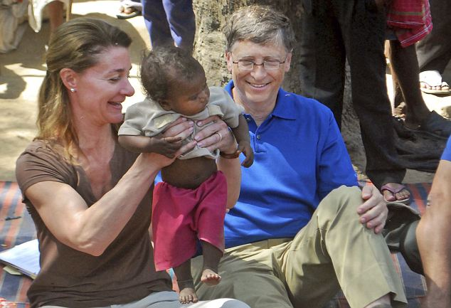 Philanthropists: Since retiring from full-time work with Microsoft, Gates has thrown himself into his philanthropy through his charity, the Bill and Melinda Gates Foundation which gives aid to some of the most underprivileged countries in the world