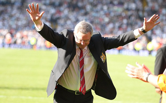 Take a bow: Fergie praises the United fans who travelled to West Brom on the final day
