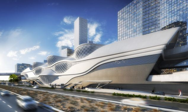Luxury: The design will apparently let in the sun rays but air conditioning will keep commuters cool in what is one of the world's hottest countries