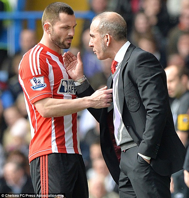 A little chat: Di Canio and Bardsley have a discussion on the touchline during a game - that may never happen again at Sunderland