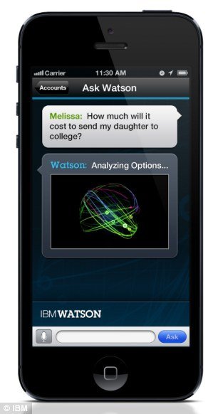 Ask Watson app; IBM's supercomputer is becoming a customer support workers