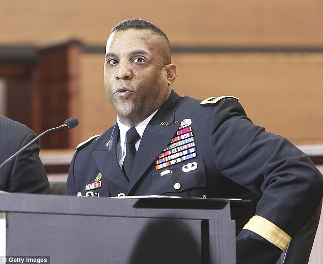 Brass: Brigadier General Bryan T. Roberts was suspended for getting into a physical altercation with a woman who was not his wife