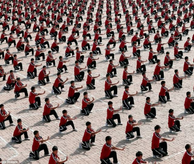 Students The Tagou School Is The Largest Martial Arts School In China And Featured