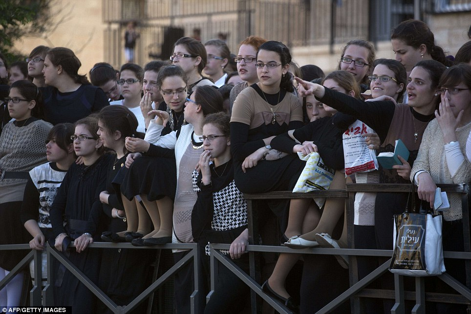 Awaiting crowds: Some 25,000 Ultra-Orthodox Jews participated in one of the biggest weddings in the past few years