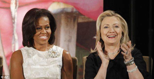 Mrs. Obama (L), equal parts political cohort and marital consort, has become a force to be reckoned with in Washington