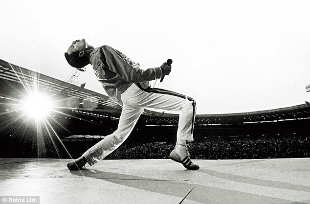 WE ARE THE CHAMPIONS: Freddie Mercury and Queen unashamedly stole the show at Wembley