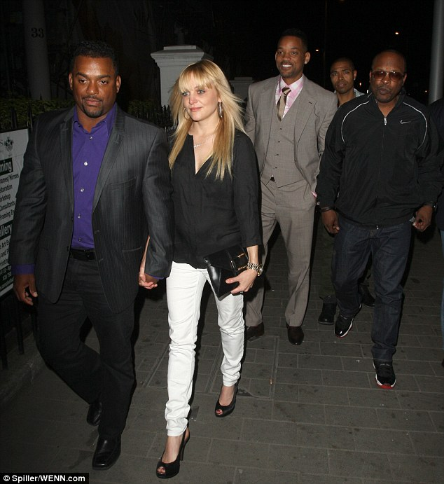 Now this is the story all about how... they were reunited! Fresh Prince stars Alfonso Ribeiro, Will smith and Jazzy J reunite at Boujis for a performance from Will's eldest son