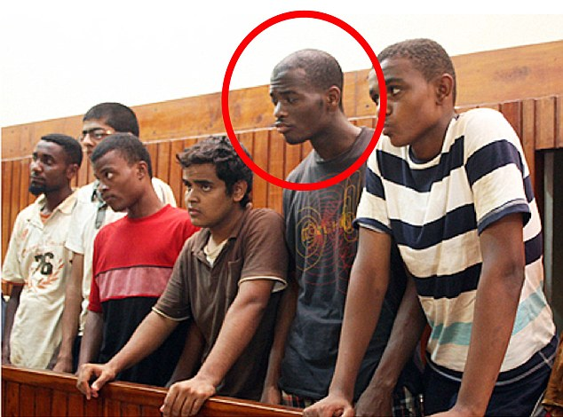 Exclusive: Michael Adebolajo in a Kenyan court in 2010 with five other men after he attempted to cross the border