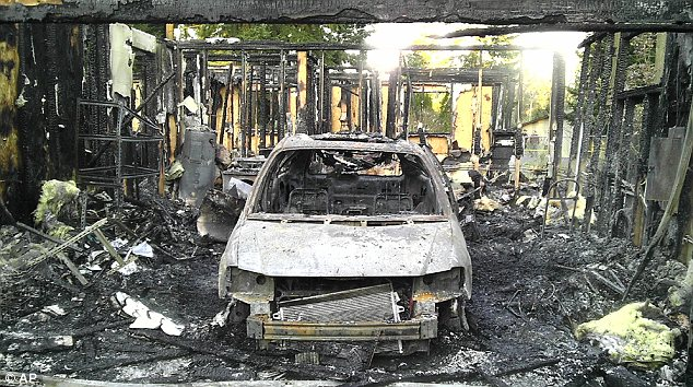 Horrific: Josh Powell moved to a home in Puyallup, Washington, where he ultimately attacked his boys with a hatchet after saying he 'had a big surprise' for them. He then set his home on fire, causing an explosion that killed them all