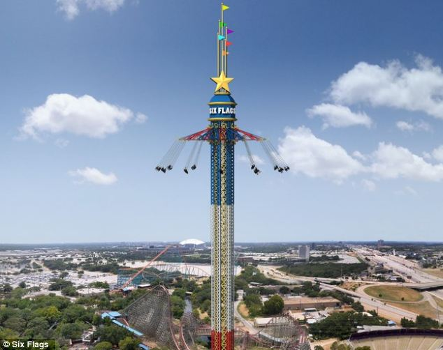 Prepare for the ride of your life: The world¿s tallest tower swing ride sends those foolhardy enough to get on it a whopping 400 feet up in the air