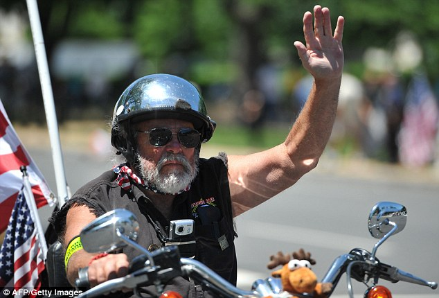 Many of the riders displayed the rough-and-tumble look of aging tough guys. However, each of the riders came out to honor veterans and those who never came back from war