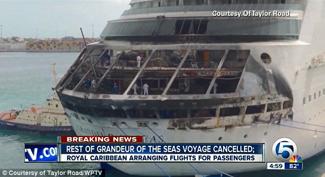 Fire Investigators: A fire that broke out aboard a Royal Caribbean ship Monday did enough damage that the rest of the cruise was canceled