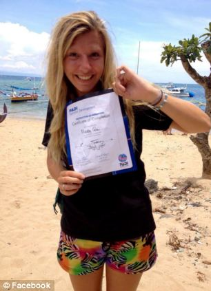 Killed: Madaline Cole, 25, was killed in Malaysia yesterday