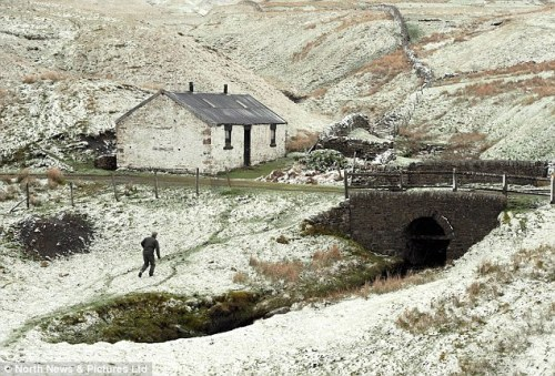 Winter? Teesdale in County Durham blanketed in snow on May 23 in what is likely to be Britain's coldest spring since 1962