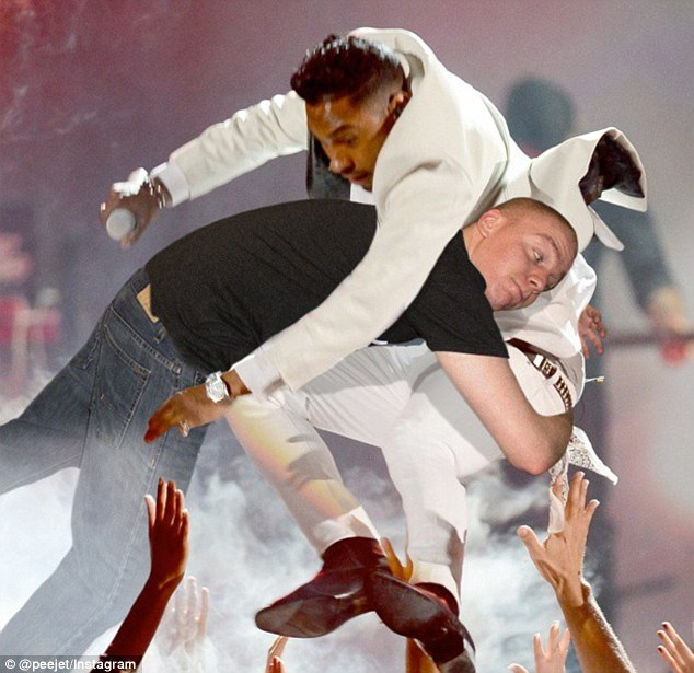 Twitter trending: A big fan of hip hop, PeejeT chooses images that are trending - 'For instance, when Miguel leg dropped that fan at the Billboard Music Awards. . .I tried to get as creative and funny with it as I can'