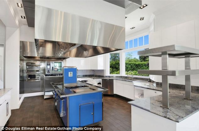 Luxury: The mansion features this lavish $3 million designer kitchen, which contains a bakery