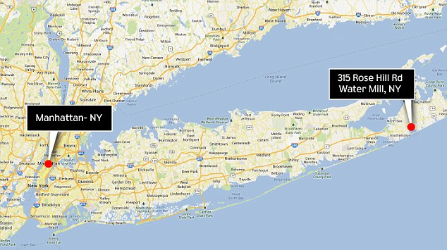 Good location: The home is a two-hour drive - or roughly 95 miles - from Manhattan