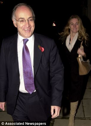 Former employee: Rachel Whetstone, Google's top global spinner, was a Number 10 aide and was director of communications for Conservative leader Michael Howard. The pair are pictured together