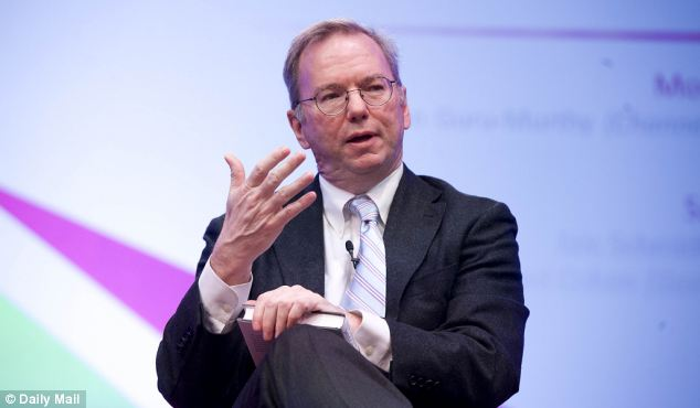 Powerful: Google boss Eric Schmidt is a trusted member of David Cameron's council of business advisors
