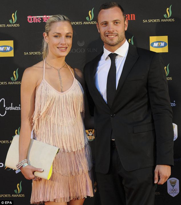Reeva Steenkamp and Oscar Pistorius pictured together in November last year. Three months later he killed her