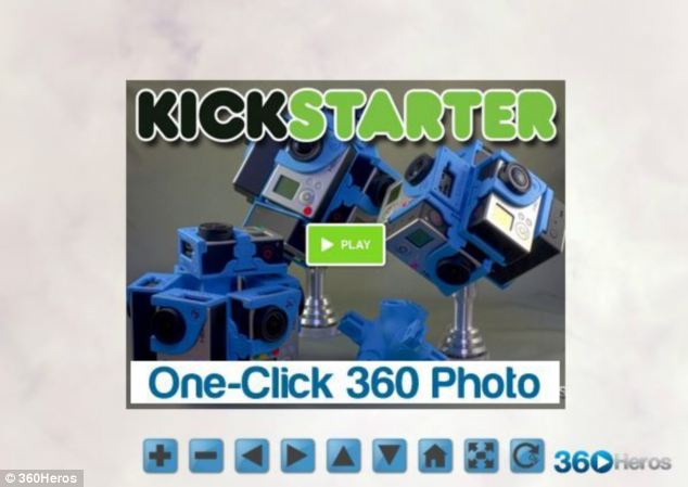 Michael Kitner's 360Heros Kickstarter campaign lets you create 360-degree photos in one click using a web application