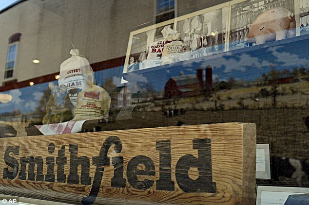 Major hams: Smithfield Foods Inc. in Smithfield, Virginia, the world's largest pork producer has agreed to be bought out by Chinese meat giant Shuanghui International Holdings Ltd