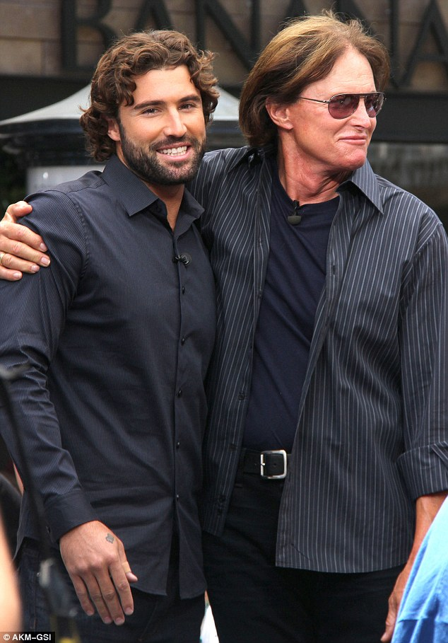 Bro power: Bruce and son Brody have been constant figures on the show