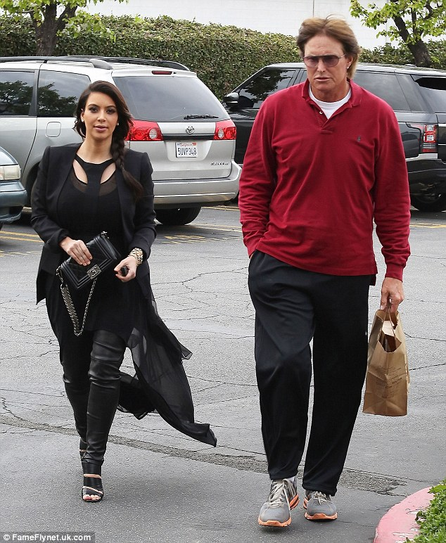 Father figure: Bruce and Kim have been close since he married her mother over two decades ago