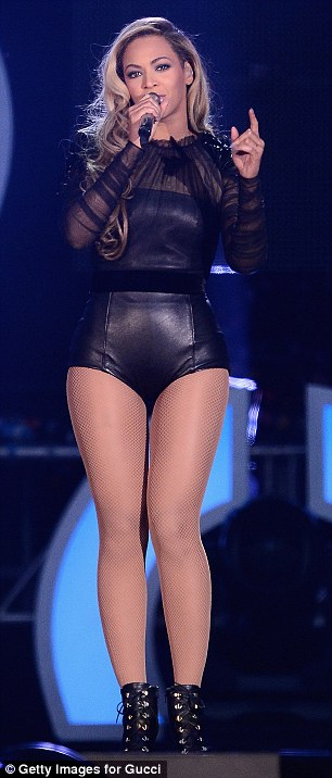 She's got it: The global superstar belted out a selection of her hits as she stood on stage in her tiny get-up