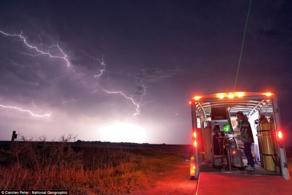 Lighting up the sky: The storm chasers work was featured on National Geographic and the Discovery Channel as they tracked violent weather systems