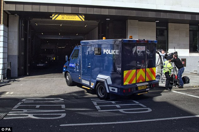 High profile: Adebolajo, 28, who was inside this van, is accused of a series of crimes linked to Drummer Rigby