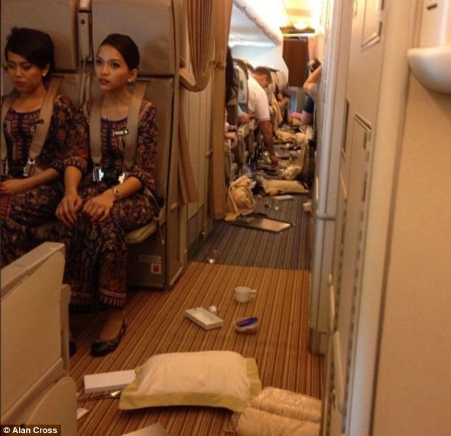 Flight attendants were told to immediately take their seats just before the aircraft hit the turbulence