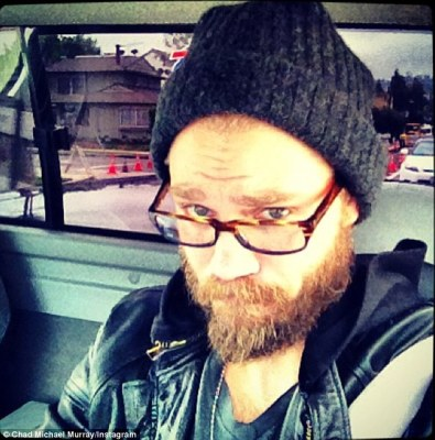 What happened? Chad Michael Murray tweeted a selfie as he brandished a bushy beard, on Wednesday