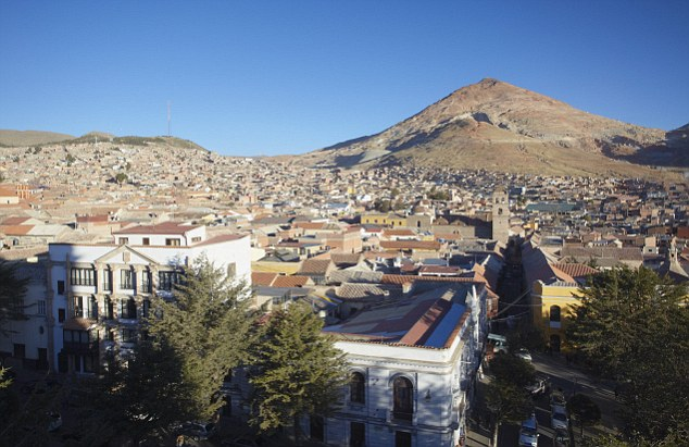 Rich in history: The city of Potosi is UNESCO listed, but its days of prosperity from its silver mine are gone, and most miners live in poor rural villages