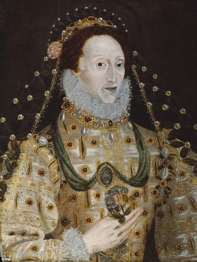 Este retrato de la reina Isabel I es de autor desconocido y es a partir del período 1580-1590