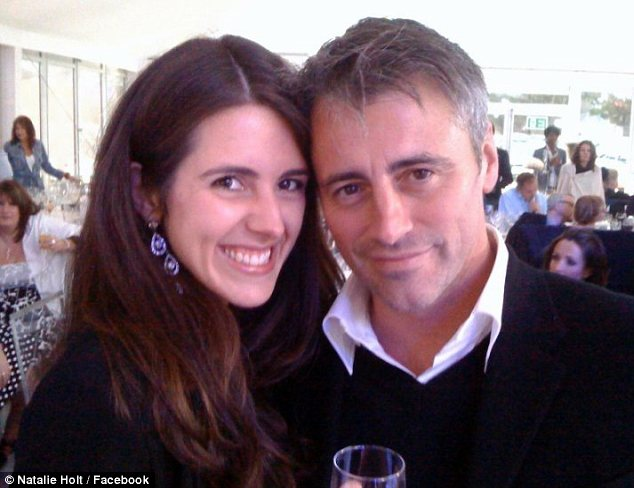 Disgruntled: Natalie Holt, pictured with Matt LeBlanc has been named as the woman who egged Simon Cowell on stage on Saturday night's Britain's Got Talent final