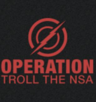 Plan: An operation to troll the NSA have started up online in a bid to jam the spy scanners