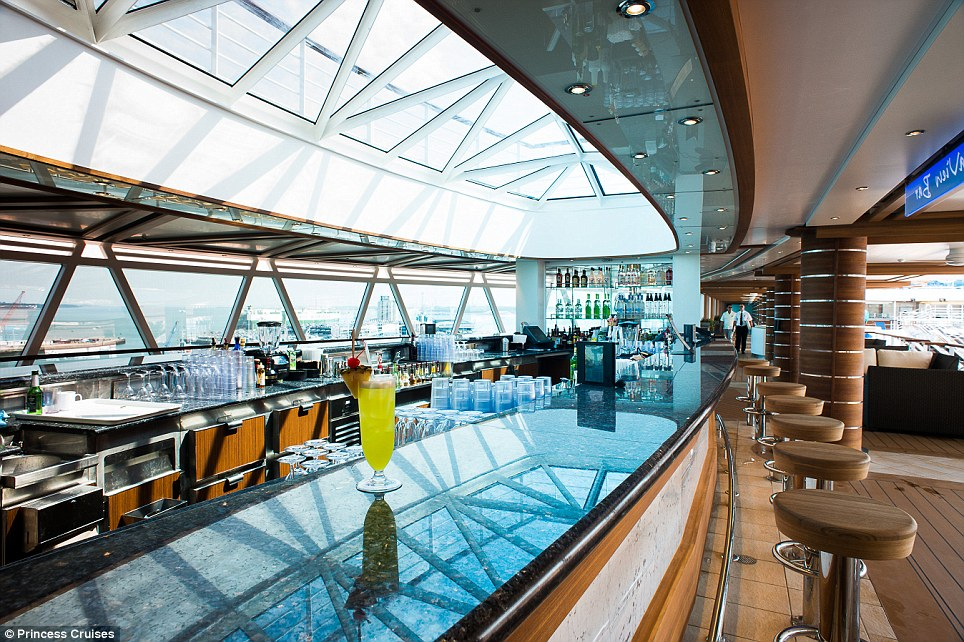 Panorama: The stunning Sea View bar offers commanding views of the surrounding ocean as well as a fully stocked bar staffed by expert mixologists