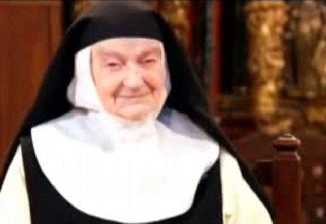 Devoted: Sister Teresita Barajuen who has died in Spain at the age of 105