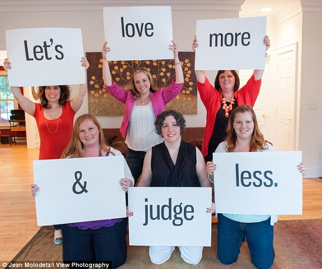 Getting the message across: The group of moms want to inspire others to embrace the same line of thought