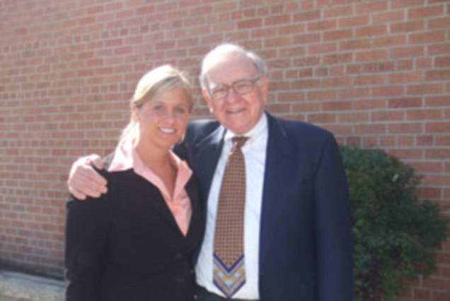 Mentor: Since he hired Britt in 2009, Warren Buffett has gradually added responsibilities to her role, and now she 'takes care of all kinds of things that come up' Buffett told college students in Omaha last month