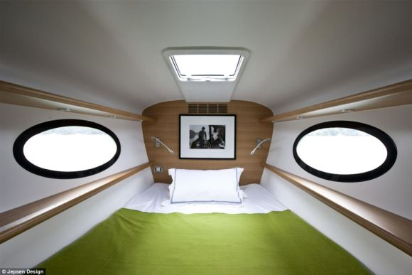 The yacht has an integrated ship monitoring system, and can even be controlled with an Apple iPad within a 50-metre range