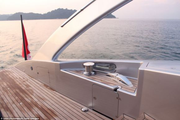 The Adastra can house up nine guests, in addition to six crew members, and travel at a speed of up to 22.5 knots