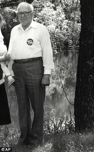 Michael Karkoc, 94, pictured here in Minnesota in 1990, was a commander in a Nazi unit blamed for atrocities in the war, it emerged today