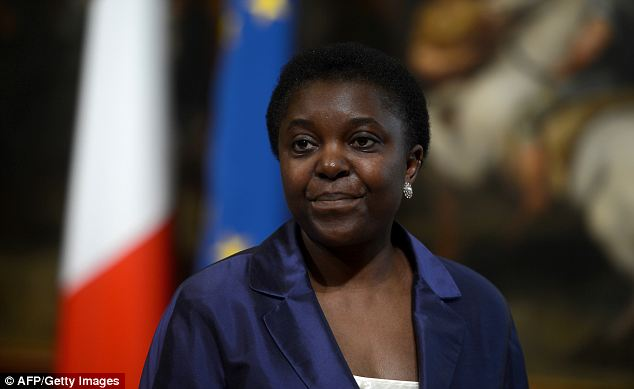Insulted: Cecile Kyenge, 48, who was born in Democratic Republic of Congo and moved to Italy when she was 18, said Dolores Valandro's words were an 'insult to all Italians'