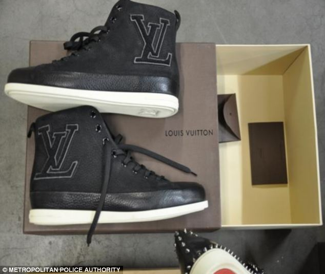 Louis Vuitton shoes bought by the gang who were 'buying and selling heroin on a commercial scale'