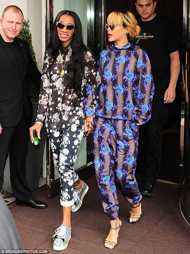 Best friends and style sisters: The 25-year-old singer and her best friend Melissa wore matching floral print outfits